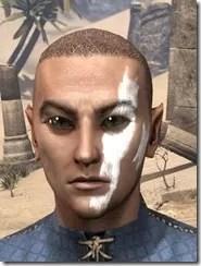 Double Diagonal Face Warpaint Male Front