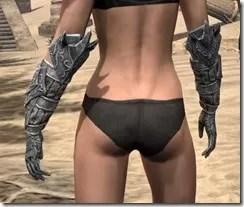 Dremora Iron Gauntlets - Female Rear