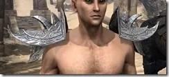 Dremora Iron Pauldrons - Male Front