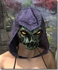 Pumpkin Spectre Mask - Dyed Front