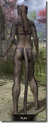 Sable Man-Beast - Khajiit Rear