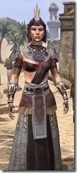 Elder Argonian Ancestor Silk - Female Robe Close Front