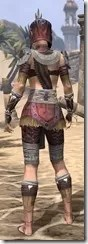 Elder Argonian Ancestor Silk - Female Shirt Rear