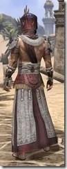 Elder Argonian Ancestor Silk - Male Robe Rear
