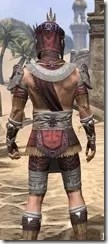 Elder Argonian Ancestor Silk - Male Shirt Close Rear
