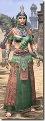 Elder Argonian - Dyed Robe Front
