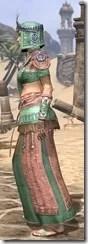 Elder Argonian - Dyed Robe Side