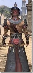 Elder Argonian - Male Robe Close Rear