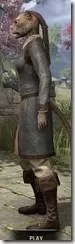 Forge-Wife's Impervious Frock Khajiit Female Side