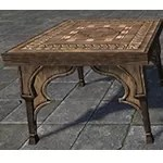 Redguard End Table, Inlaid