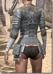 Silver Dawn Iron Cuirass - Female Rear