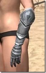 Silver Dawn Iron Gauntlets - Female Side