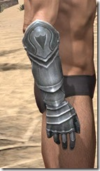 Silver Dawn Iron Gauntlets - Male Right
