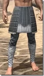 Silver Dawn Iron Greaves - Male Front