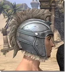 Silver Dawn Iron Helm - Male Right
