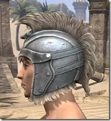 Silver Dawn Iron Helm - Male Side