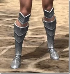 Silver Dawn Iron Sabatons - Female Front