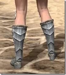 Silver Dawn Iron Sabatons - Female Rear