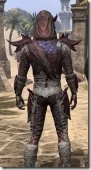 Dremora Ancestor Silk - Male Shirt Close Rear