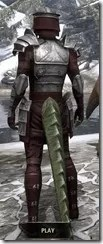 Centurion Dress Armor - Argonian Male Rear