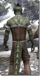 Corseted Riding Outfit - Argonian Male Close Rear