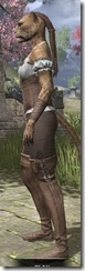 Corseted Riding Outfit - Khajiit Female Side