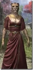 Cyrod Patrician Formal Gown - Khajiit Female Close Front