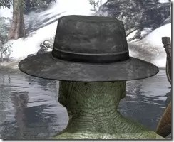 Deluxe Mourning Hat Argonian Male Rear