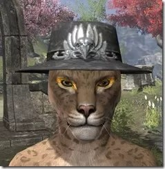 Deluxe Mourning Hat Khajiit Female Front