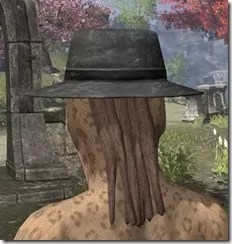 Deluxe Mourning Hat Khajiit Female Rear