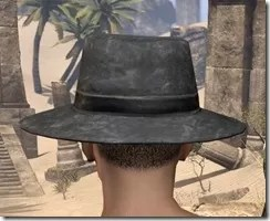 Deluxe Mourning Hat Male Rear