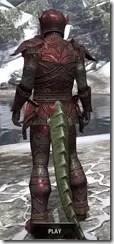 Ebony Heavy - Argonian Male Rear