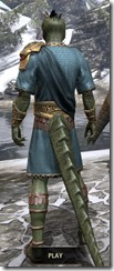 Elder Council Tunic and Sash - Argonian Male Rear