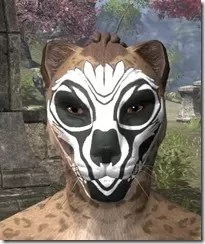 Floral Skull Face Tattoo Khajiit  Female Front