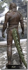 Naryu's Morag Tong Costume - Argonian Male Rear