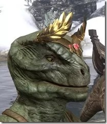 Nibenese Laurel Coronet Argonian Male Side