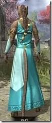 Nibenese Noble's Shawled Robe Khajiit Female Rear