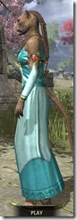 Nibenese Noble's Shawled Robe Khajiit Female Side