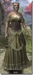 Off-the-Shoulder Evening Dress - Khajiit Female Front