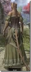Off-the-Shoulder Evening Dress - Khajiit Female Rear