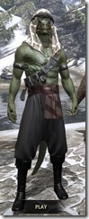 Pirate First Mate's Outfit - Argonian Male Front