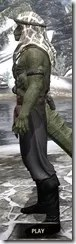 Pirate First Mate's Outfit - Argonian Male Side