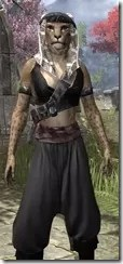 Pirate First Mate's Outfit - Khajiit Female Close Front
