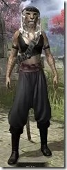 Pirate First Mate's Outfit - Khajiit Female Front