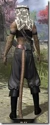 Pirate First Mate's Outfit - Khajiit Female Rear