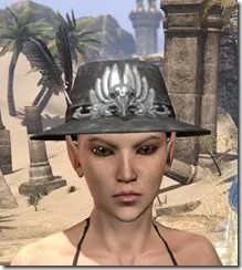 Plumed Mourning Hat Female Front