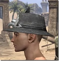 Plumed Mourning Hat Male Side