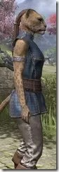 Rawhide-Laced Riften Jerkin Khajiit Female Close Side