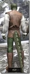 Soiree in Camlorn Evening Outfit - Argonian Male Rear