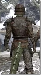 Soul-Shriven Armor Outfit - Argonian Male Close Rear